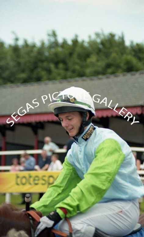 The Jockey Royston French @ Pontefract on the 19th June 2005 rode Shades Of Beige